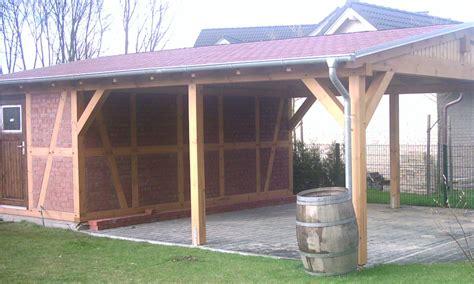 Gartenhaus Fachwerk Bausatz by Fachwerk Carports Holzgaragen Als Individueller Bausatz