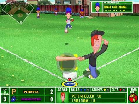 backyard baseball gameplay backyard baseball 2001 gameplay pittsburg pirates vs