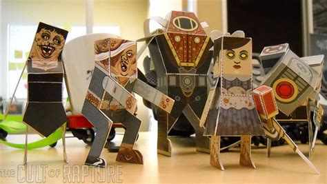 Bioshock Papercraft - papercraft bioshock 2 characters are square but still cool