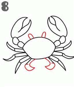 crab outline how to draw a crab step by step