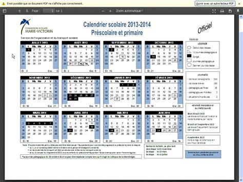 Calendrier Scolaire 2014 Calendrier Scolaire 2013 2014 201 Cole Primaire Paul Chagnon