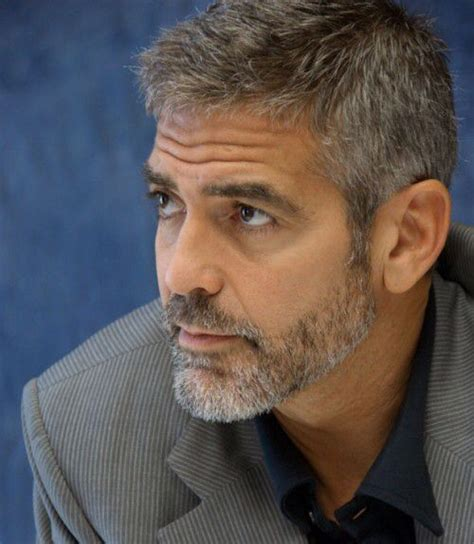 great hairstyle with goatee george clooney beard style celebrities men great