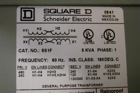 square d 5 kva transformer ph1 480 240 x 240 120 5s1f