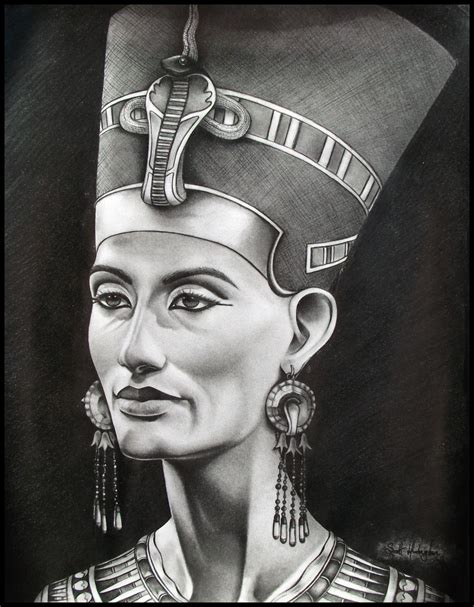 queen nefertiti by skaughtt on deviantart