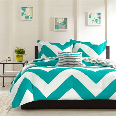 teal comforter sets full beautiful blue teal aqua grey white chevron stripe