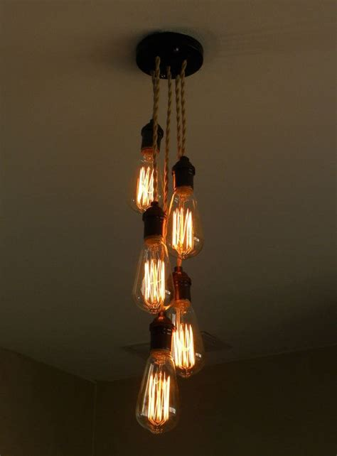 pendant cluster ceiling light with 5 industrial style cage lights custom staggered 5 cluster bulb modern pendant light
