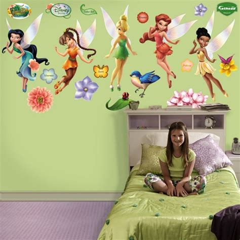 Disney Fairy Wall Stickers disney fairies wall decals tinker bell and friends