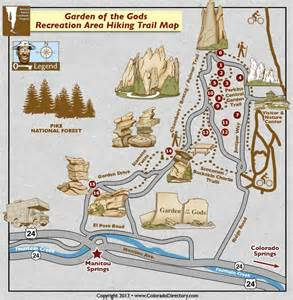 Garden Of The Gods Directions Garden Of The Gods Hiking Trails Map Colorado Vacation