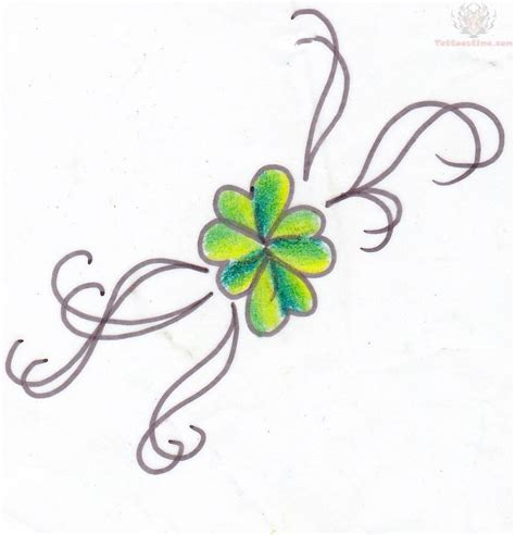 small shamrock tattoo shamrock small design