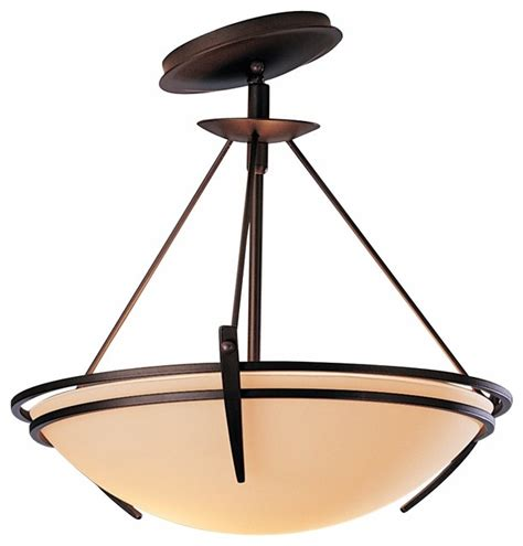 Presidio Tryne Bronze 16 1 2 Quot Wide Slope Mount Ceiling Asian Ceiling Light