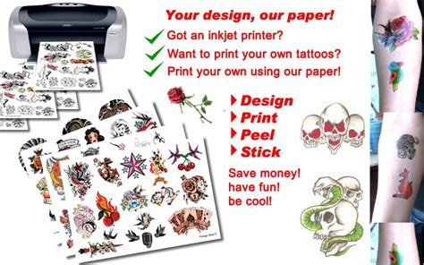 Make Your Own Temporary Paper - print temporary tattoos collections