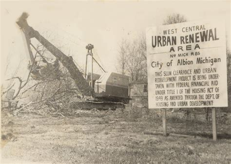 housing act of 1949 urban renewal altered landscape of albion