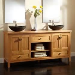 bathroom cabinets sinks 72 quot alcott bamboo vessel sink vanity vessel sink