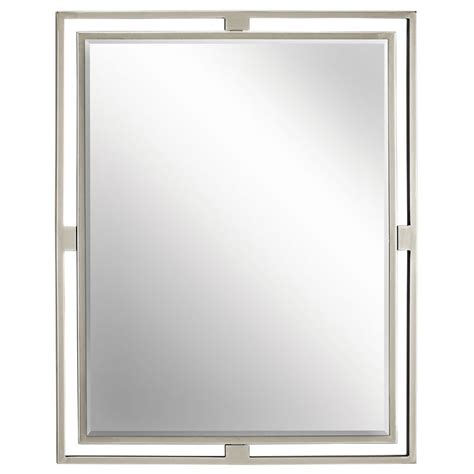 bathroom wall mirrors brushed nickel best 25 brushed nickel mirror ideas on pinterest wall