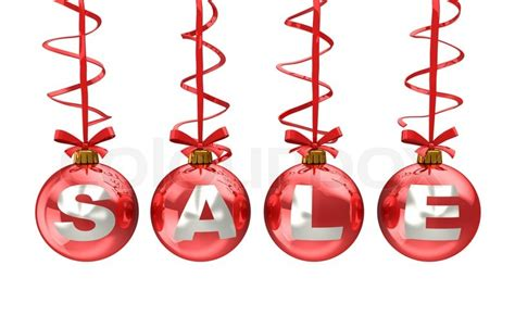 3d illustration of christmas balls with sale sign