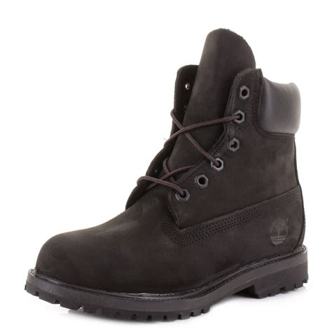 black timberland boots for timberland black 6 inch premium waterproof lace up