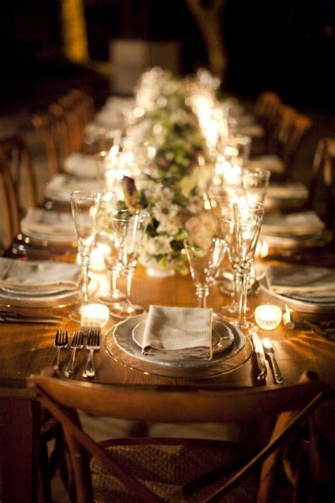 Wedding Pages Inc by Rustic Outdoor Reception Tablescape Vineyard Wedding
