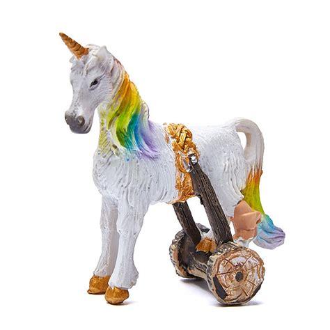 unicorn cloud miniature quot cloud quot unicorn with crutch animal miniatures dollhouse miniatures doll making