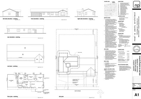 House Floor Plan Samples by Title Blocks Neal A Pann Architect