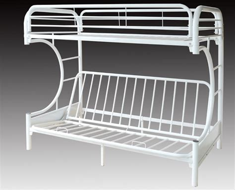 White Metal Futon Bunk Bed White Metal Bunk Bed With Futon Bm Furnititure