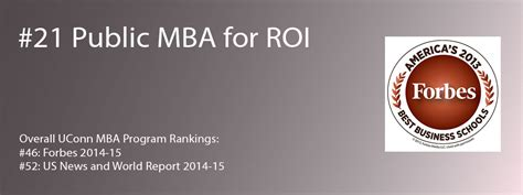 Mba Roi by Exceptional Roi Uconn Mba Program