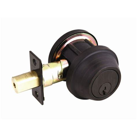 design house deadbolt design house commercial series single cylinder brushed