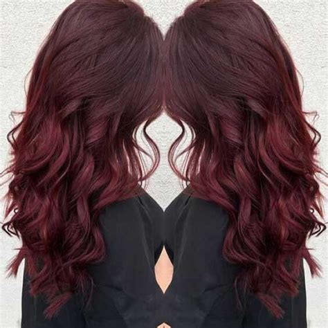 hairstyles and colors for long dark hair dark red colored long hair pics you ll love long