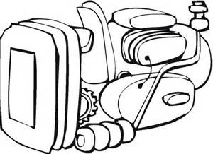 An Engine Or Motor Coloring Page Supercoloring Com Engine Colouring Pages