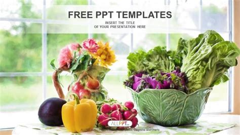 powerpoint templates vegetables free download watercolor illustration with vegetables powerpoint templates