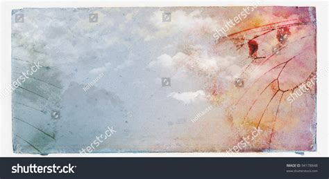 grunge paper floral background stock illustration illustration 19511049 butterflyflowerclouds on grunge paper background stock illustration 94178848