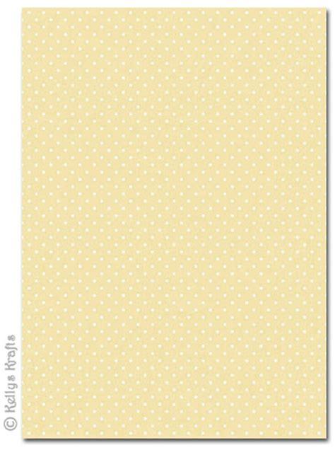 yellow patterned craft paper a4 patterned card polkadots white spots on lemon yellow