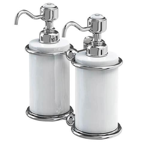 burlington bathroom accessories burlington double soap dispenser a20chr at victorian