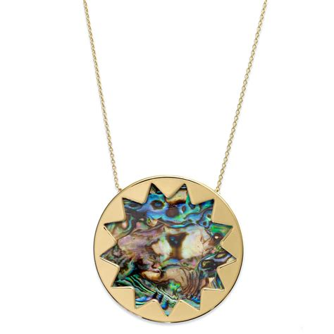 House Of Harlow Jewelry by House Of Harlow Gold Tone Abalone Sunburst Pendant