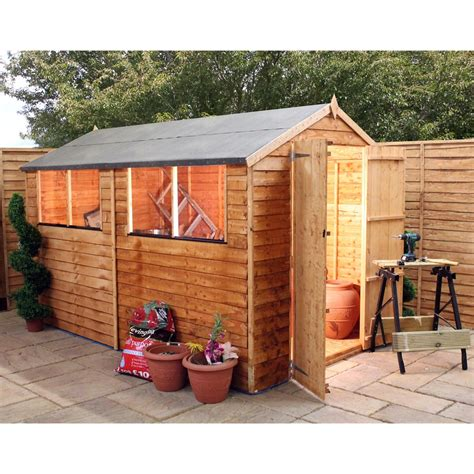 10 X 4 Wooden Shed Installed 10 X 6 Value Overlap Apex Wooden Shed Installed