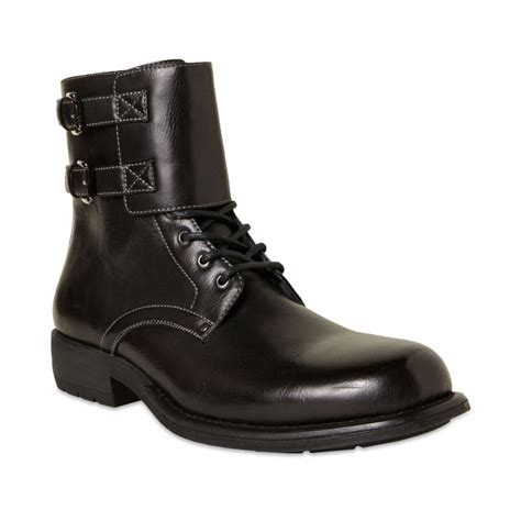 madden boots steve madden pello motorcycle boots in black for lyst