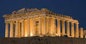 architects in history the parthenon at dusk 3 greek architecture pictures