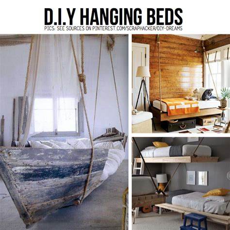 hanging bed diy put your stuff up in the air hanging diy ideas tutorials