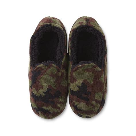 mens camo slippers joe boxer s green brown camo slipper