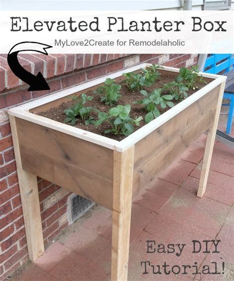 Elevated Planter Box Diy by Remodelaholic Build An Elevated Planter Box And Save