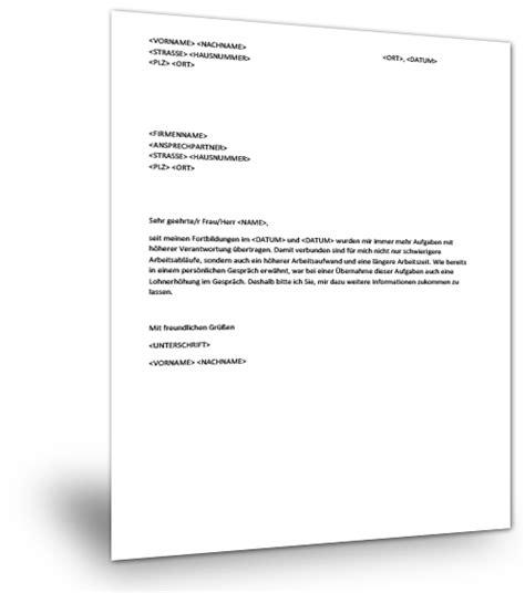 Schreiben Gehaltserhöhung Muster Arbeitgeber Musterbrief Lohnerh 246 Hung Musterix