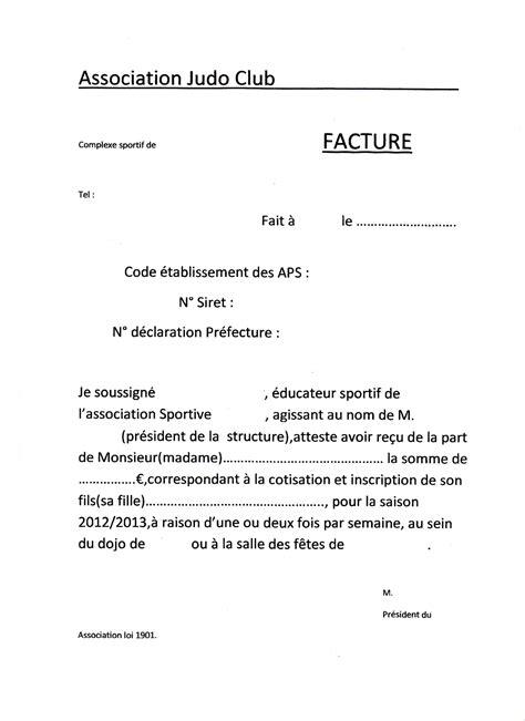 Modèle Facture Association Loi 1901 Sans Tva