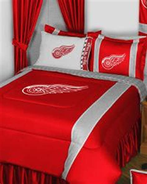red wings comforter nhl bedding