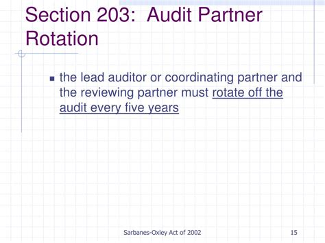 sarbox section 204 ppt sarbanes oxley act of 2002 powerpoint presentation