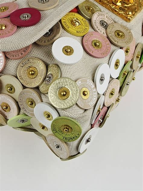 Louis Vuitton Summer Collection Polka Dots Fleurs The Bag by Louis Vuitton Limited Edition Beige Canvas Polka Dots