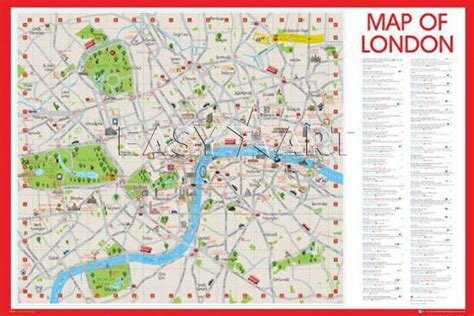 Printable Map Central London | maps update 21051488 printable tourist map of london