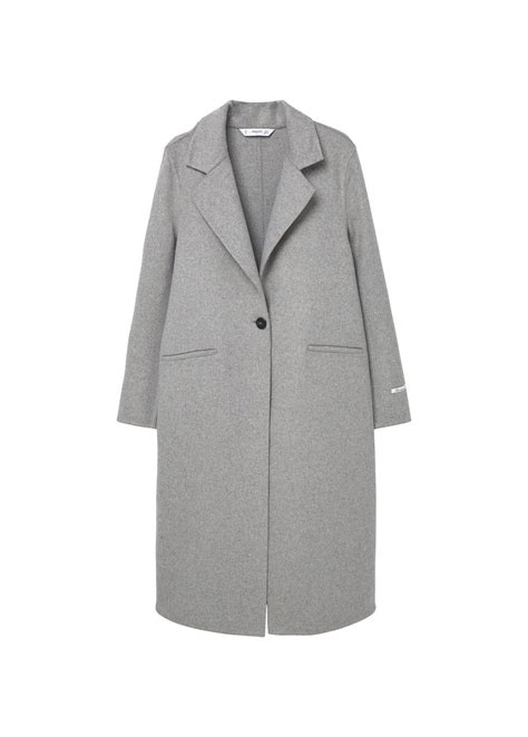 Handmade Coats - mango handmade wool coat in gray grey lyst