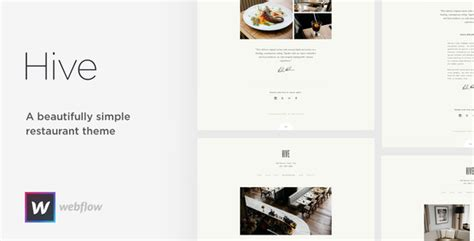 themeforest webflow hive restaurant cafe webflow template by medium rare