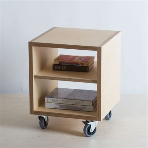 plywood bedside table plywood bedside table cabinet shelf wheels the plywood box co furniture from plywood