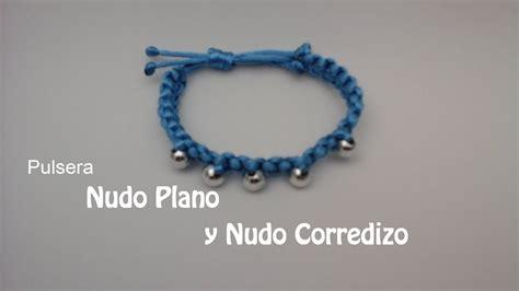 pulseras de nudos planos como hacer una pulsera con nudo plano y nudo corredizo