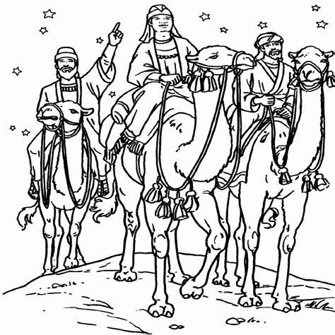 imagenes reyes magos para niños magos en camello dibujosparacolorear